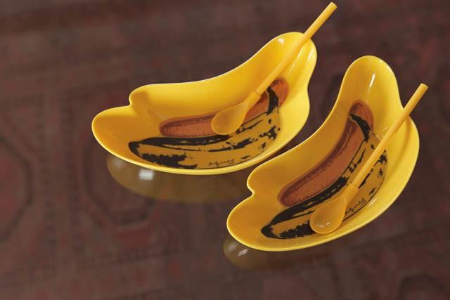 Andy Warholのバナナ型食器