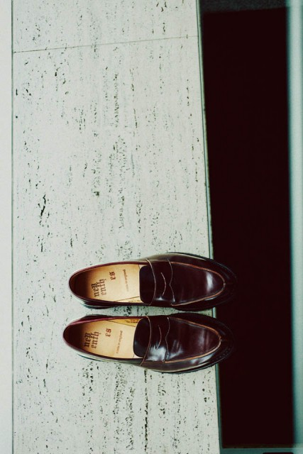 NEPENTHES cordovan loafers