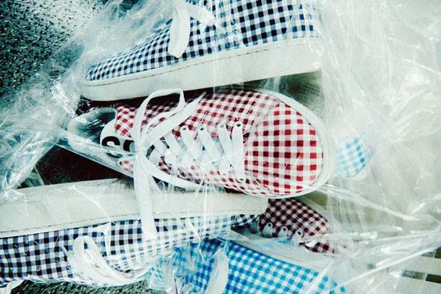 UNDER COVER gingham check sneakers
