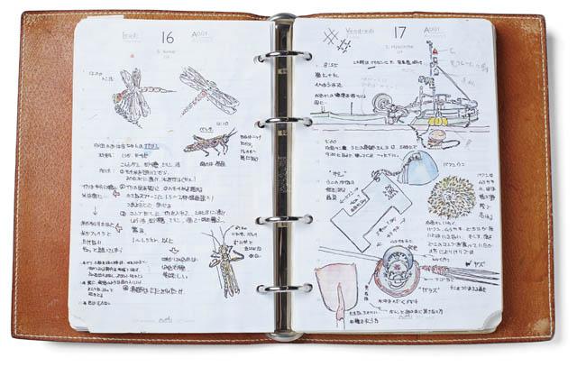 菊池仁志氏の手帳