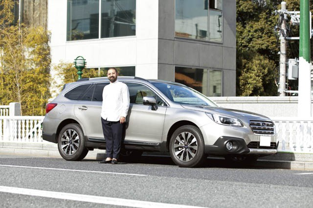 梨本大介氏とSUBARU OUTBACK LIMITED