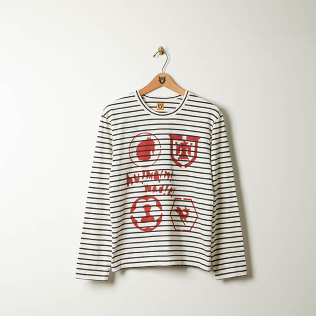 HUMAN MADE® BORDER OVER PRINT LS TEE