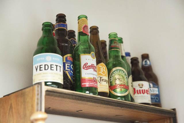 世界のビールの空き瓶たち