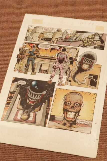 「JUDGE DREDD」のコミック原画