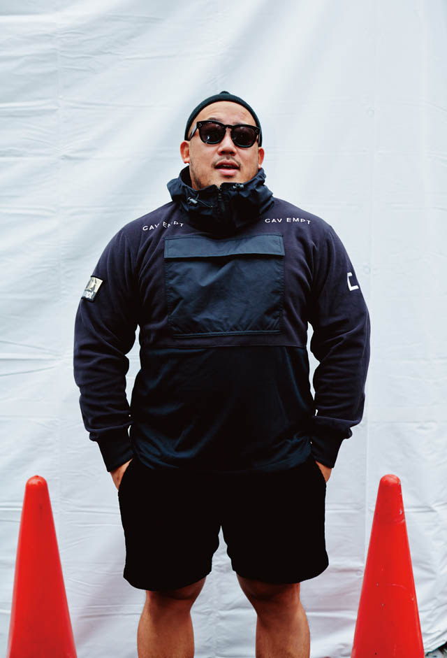 吉井雄一氏 C.EのPULL OVER LIGHT FLEECE