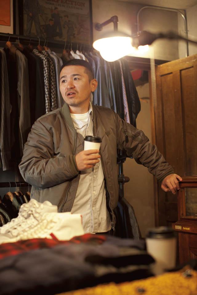 A 1 CLOTHINGにいるTAKA氏