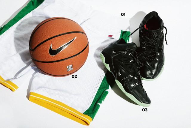 01.Supremeのバスケットパンツ 02.NIKEのバスケットボール 03.NIKEのバッシュ