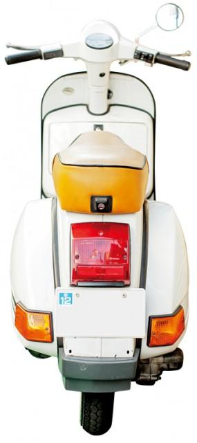 BACK.Piaggio Vespa PX200E