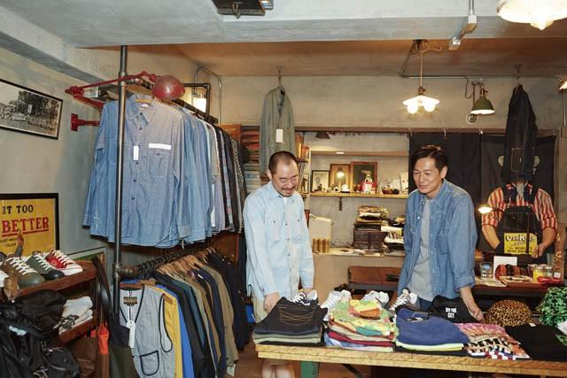 A 1 CLOTHINGに訪れる井浦新