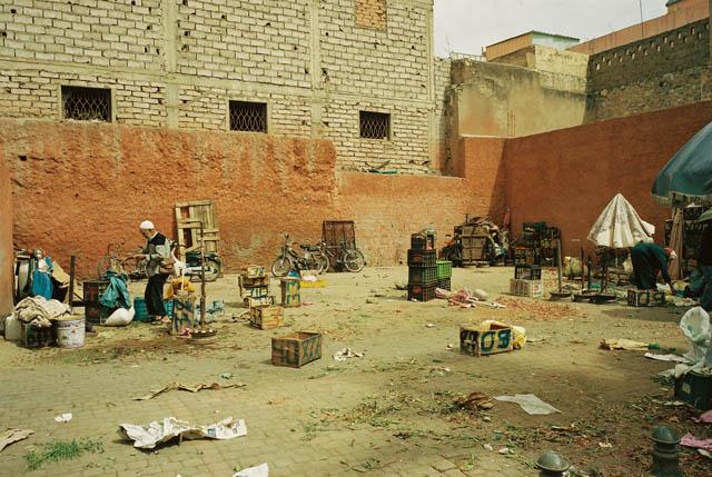 モロッコのマラケシュの街中にて。 Photo by.eri