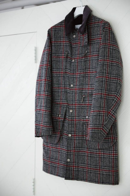 ITEM White Mountaineering×Barbourのコート