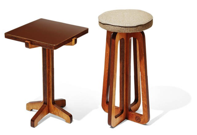 BRAND  UNFINISH ITEM  STOOL&SIDE TABLE