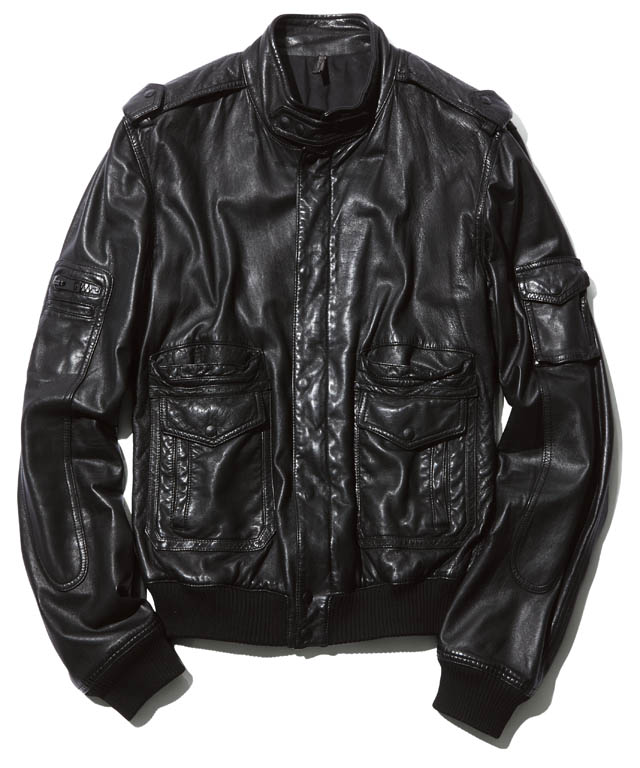 BRAND  DIOR HOMME ITEM  LEATHER JACKET