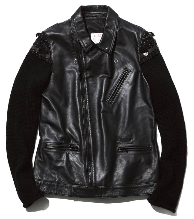 BRAND  UNDERCOVER ITEM  LEATHER JACKET