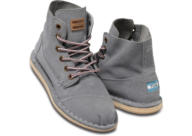 TOMS Grey Suede Womens Tomboy Boots
