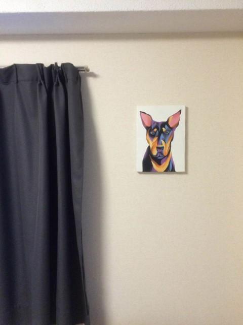 自分で描いたドーベルマンの絵