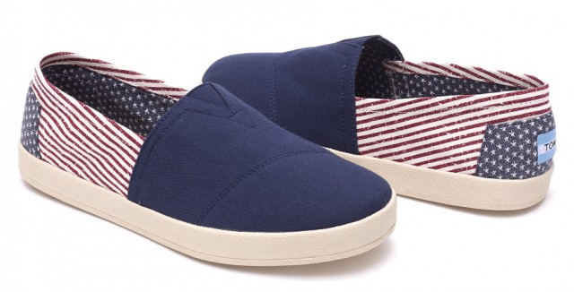 TOMS AMERICANA CANVAS FLAGMensAVALON SLIPON