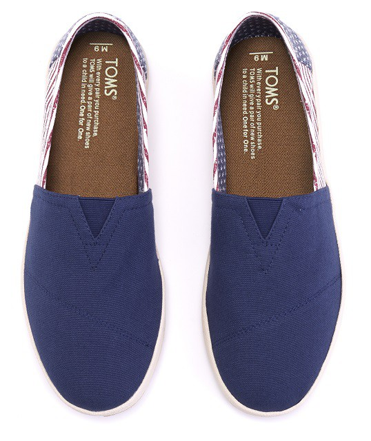 TOMS AMERICANA CANVAS FLAGMensAVALON SLIPON top