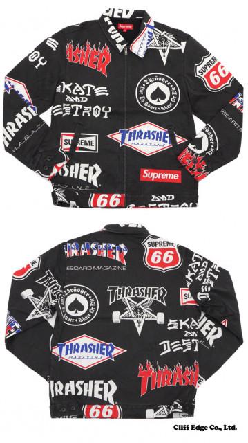 THRASHER×Supremeのコラボ ジャケット