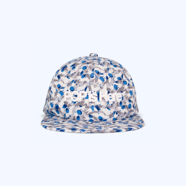 PATTERNED ALL OVER SNAPBACK CAP Get up