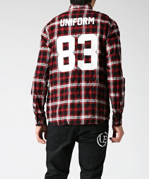 uniform experiment(ユニフォームエクスペリメント)のチェックシャツ