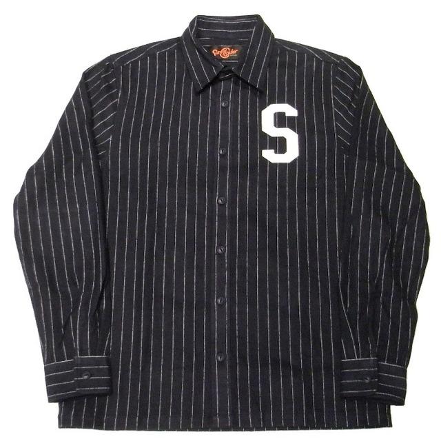 メンズファッション2016秋ストリート・カジュアル系ストライプシャツ、Sunny C Siderの16SCS AW S