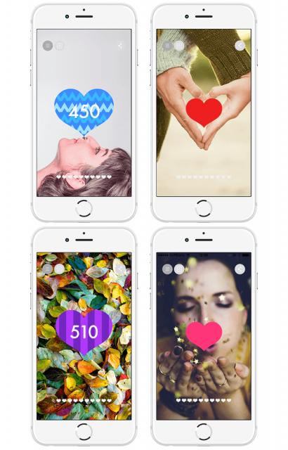 カップルにおすすめのアプリ「Heart is in」 変更可能な背景画面