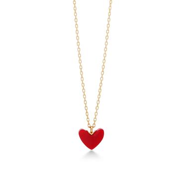 彼女へのプレゼントにおすすめのネックレス AHKAH ティランハート(レッド)ネックレス