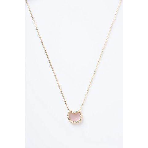 彼女へのプレゼントにおすすめのネックレス tsumori chisato JEWELRY フレームネコ ピンクシェルネックレス