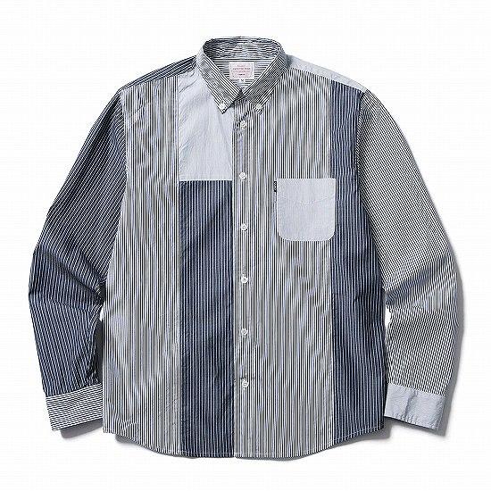 メンズファッション2016秋ストリート・カジュアル系ストライプシャツ、CLUCTのCRAZY STRIPE B.D. SHIRT