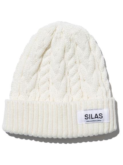 メンズファッション 冬のストリート系ニットキャップ / SILASのCABLE CUFF BEANIE