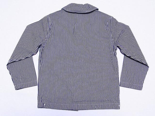 カバーオールのメンズファッション冬 おすすめブランド:BUZZ RICKSONS(バズリクソンズ) WWII HICKORY STRIPE WORK JACKET