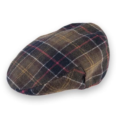 ハンチングのメンズファッション おすすめブランド:Barbour(バブアー) Classic Wool Tartan Cap クラシックウールタータンキャップ