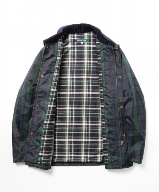 カバーオールのメンズファッション冬 おすすめブランド:BEAMS(ビームス) × TUBE(チューブ) ナイロンカバーオール