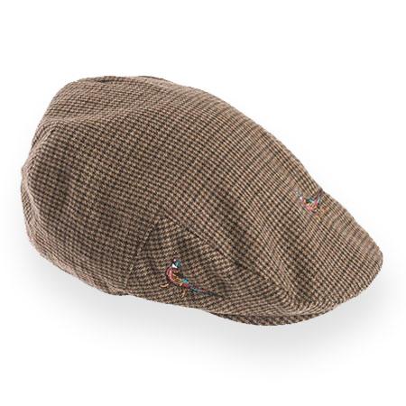 ハンチングのメンズファッション おすすめブランド:Barbour(バブアー) Pheasant Flat Cap フェザントフラットキャップ