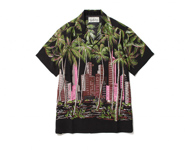 WACKO MARIA PARADISE TOKYO LIMITED HAWAIIAN SHIRT ブラックピンク