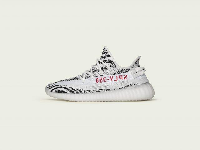 adidas+KANYEブラック&ホワイトのYEEZY BOOST 350 V2