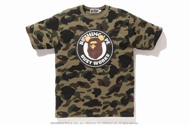 A BATHING APE® x BE@RBRICKコラボ第二弾Tシャツ